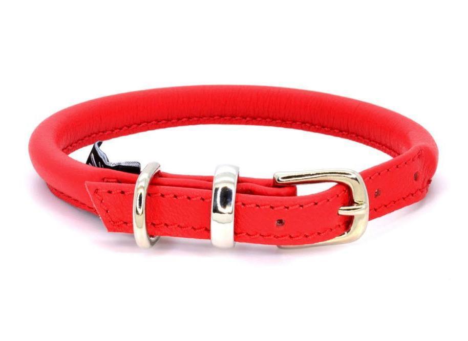 Dogs and Horses Rolled Leather Collar